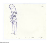"The Simpsons - ""Marge, Homer, Lisa and Maggie"" Preliminary Animation Drawing Original Art, Group of 3 (undated..."
