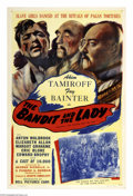 "Movie Posters:Action, The Bandit and the Lady (Bell Features, 1937). One Sheet (27"" X41""). Based on the Jules Verne story, the film follows a Rus..."