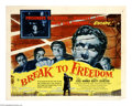 "Movie Posters:War, Break to Freedom (United Artists, 1955). Half Sheet (22"" X 28"").Renamed for an American release (it was originally known as..."