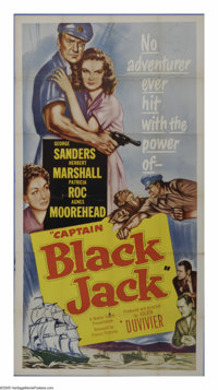 """Captain Blackjack (Classic Pictures, 1952). Three Sheet (41"""" X 81""""). George Sanders is a post-war smuggler in..."""