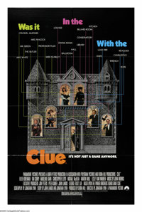 """Clue (Paramount, 1985). One Sheet (27"""" X 41""""). All your favorites from the Parker Brothers game are here -- Mr..."""
