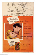 "Movie Posters:Drama, The Eddy Duchin Story (Columbia, 1956). Window Card (14"" X 22""). Tyrone Power plays the tragically short-lived band leader, ..."