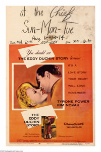 "The Eddy Duchin Story (Columbia, 1956). Window Card (14"" X 22""). Tyrone Power plays the tragically short-lived..."