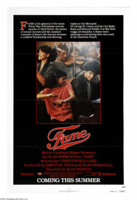 """Fame (United Artists, 1980). One Sheet (27"""" X 41"""") Advance. """"I'm going to live forever...Remember my name..."""
