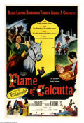 "Movie Posters:Adventure, Flame of Calcutta (Columbia, 1953). One Sheet (27"" X 41""). SuzanneRoget (Denise Darcel), a French woman in India during the..."