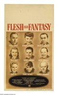 """Movie Posters:Drama, Flesh and Fantasy (Universal, 1943). Midget Window Card (8"""" X 14""""). Three short stories comprise this film, all linked by a ..."""