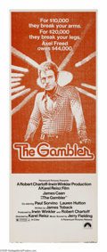 "Movie Posters:Drama, The Gambler (Paramount, 1974). Insert (14"" X 36""). Axel Freed(James Caan) is a respected literature professor who has a pro..."