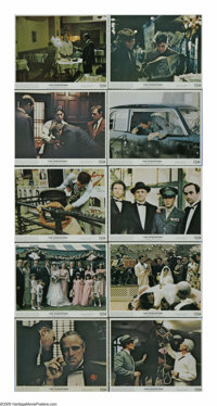 "Godfather (Paramount, 1972). (10) Mini-Lobby Cards (8"" X 10""). Fans of this obscure genre picture will definit..."