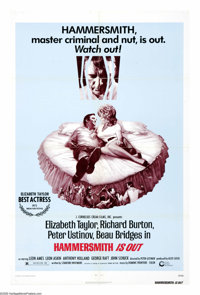 """Hammersmith Is Out (Cinerama Releasing, 1972). One Sheet (27"""" X 41""""). Richard Burton stars as a mental patient..."""