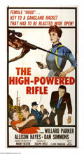 "Movie Posters:Crime, The High Powered Rifle (20th Century Fox, 1960). Three Sheet (41"" X81""). Stephen Dancer (Willard Parker) is a detective wit..."