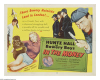 "In the Money (Allied Artists, 1958). Half Sheet (22"" X 28""). Still playing a Bowery Boy at 39, Huntz Hall fina..."