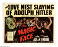 "Movie Posters:Drama, The Magic Face (Columbia, 1951). Half Sheet (22"" X 28""). A Hitler impersonator (Luther Adler) is thrown in prison after he o..."