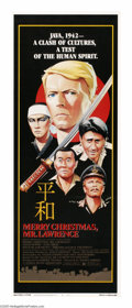 "Movie Posters:War, Merry Christmas, Mr. Lawrence (Universal, 1983). Insert (14"" X36""). In a Japanese prisoner of war camp during WWII, Major J..."