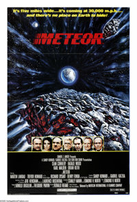 """Meteor (AIP, 1979). One Sheet (27"""" X 41""""). Sean Connery, Brian Keith and Natalie Wood head up an all-star cast..."""