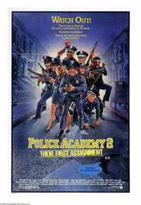 """Police Academy 2: Their First Assignment (Warner Brothers, 1985). One Sheet (27"""" X 41""""). The wacky recruits of..."""