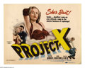 """Movie Posters:Mystery, Project X (Paramount, 1968). Title Lobby Card (11"""" X 14""""). Twentyyears before Jack Lord told Danno to """"book him,"""" he played..."""