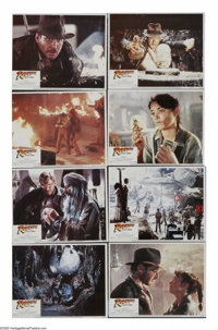"""Raiders of the Lost Ark (Paramount, 1981). Lobby Card Set of 8 (11"""" X 14""""). """"It's not the years, it's the..."""