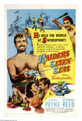 "Movie Posters:Adventure, Raiders of the Seven Seas (United Artists, 1953). One Sheet (27"" X41""). Pirate Barbarossa (John Payne) captures a Spanish g..."