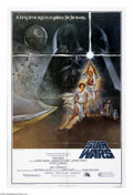 "Movie Posters:Science Fiction, Star Wars (20th Century Fox, 1977). One Sheet (27"" X 41""). ""TheForce will be with you, always."" George Lucas' timeless sci-..."