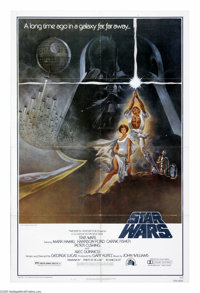 "Star Wars (20th Century Fox, 1977). One Sheet (27"" X 41""). ""The Force will be with you, always."" Geo..."
