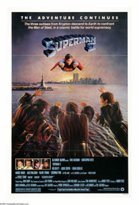 """Superman II (Warner Brothers, 1980). One Sheet (27"""" X 41""""). Three outlaws from the planet Krypton are released..."""