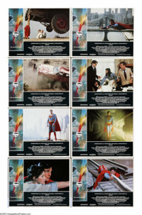 """Superman (Warner Brothers, 1978). Lobby Card Set of 8 (11"""" X 14""""). In the role he was born to play, Christophe..."""
