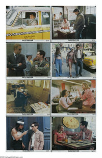 "Taxi Driver (Columbia, 1976). Mini Lobby Card Set of 8 (8"" X 10""). ""Thank God for the rain to wash the tr..."