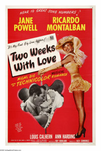 "Two Weeks With Love (MGM, 1950). One Sheet (27"" X 41""). Fans of ""Dirty Dancing"" will recognize this..."
