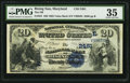 National Bank Notes:Maryland, Rising Sun, MD - $20 1882 Value Back Fr. 581 The NB of Rising Sun Ch. # (E)2481. ...