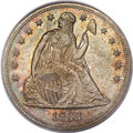 Seated Dollars, 1866 $1 Motto MS64 PCGS. CAC. OC-1, R.2....