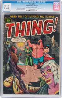 The Thing! #5 (Charlton, 1952) CGC VF- 7.5 Cream to off-white pages