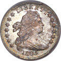 Early Dimes, 1805 10C 4 Berries, JR-2, R.2, MS66+ PCGS. CAC....