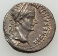 Ancients:Roman Imperial, Ancients: Tiberius (AD 14-37). AR denarius (3.73 gm). XF....