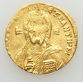 Ancients:Byzantine, Ancients: Justinian II (AD 685-695). AV solidus (4.48 gm). AU,uneven strike....