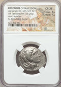 Ancients:Greek, Ancients: MACEDONIAN KINGDOM. Alexander III the Great (336-323 BC).AR tetradrachm (17.00 gm). NGC Choice XF 4/5 - 4/5. ...