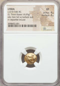 Ancients:Greek, Ancients: LYDIAN KINGDOM. Alyattes or Walwet (ca. 610-561 BC). ELthird stater or trite (4.69 gm). NGC XF 4/5 - 4/5....