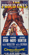 "Movie Posters:Western, The Proud Ones (20th Century Fox, 1956). Three Sheet (41"" X 77"").Western.. ..."