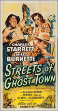 """Movie Posters:Western, Streets of Ghost Town (Columbia, 1950). Three Sheet (41"""" X 79"""").Western.. ..."""