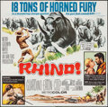 "Movie Posters:Adventure, Rhino! (MGM, 1964). Six Sheet (79"" X 80""). Adventure.. ..."