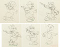 Animation Art:Production Drawing, The Vanishing Private Donald Duck Marching Sequence Animation Drawings Group of 6 (Walt Disney, 1942). ... (Total: 6 Items)