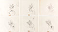 Animation Art:Concept Art, Lady and the Tramp Jock Concept Art Group of 17 (Walt Disney, 1955).... (Total: 17 Original Art)
