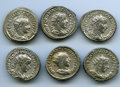 Ancients:Ancient Lots  , Ancients: GROUP LOTS. Roman Imperial. Gordian III (AD 238-244). Lotof six (6) AR antoniniani. VF-XF.... (Total: 6 coins)