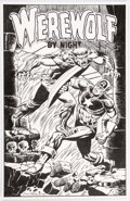 "Original Comic Art:Splash Pages, Don Perlin ""Werewolf By Night"" with Captain America Pin-UpIllustration Original Art (2008)...."
