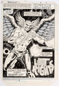 Original Comic Art:Splash Pages, Richard Howell and Ron Randall Hawkman Special #1 SplashPage Original Art (DC Comics, 1985)....