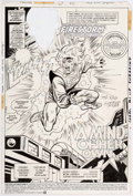 Original Comic Art:Splash Pages, George Tuska and Alex Niño The Fury of Firestorm #31 SplashPage Original Art (DC Comics, 1985)....
