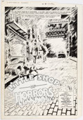 Original Comic Art:Splash Pages, Gene Colan and Dave Hunt Little Shop of Horrors #1 SplashPage Original Art (DC Comics, 1987)....