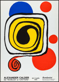 "Movie Posters:Miscellaneous, Alexander Calder: From ""Mobiles"" to ""Critters"" (Galleriea Rodanini, 1976). Silk Screen Museum Poster (19.5"" X 27.5""). Miscel..."