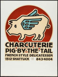Movie Posters:Miscellaneous, Pig-by-the-Tail Carcuterie by David Lance Goines (1977).