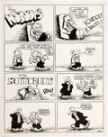 Original Comic Art:Complete Story, George Hansen The Nobody's (sic) Complete 1-PageStory Original Art. (c. 1970s.)...