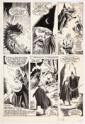 John Buscema, Tom Palmer, and John Tartaglione Marvel Preview #22 Page 43 Origin Comic Art